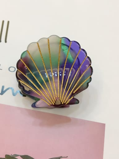 Multicolored Alloy With  Cellulose Acetate Fashion Shell  Irregular Barrettes & Clips