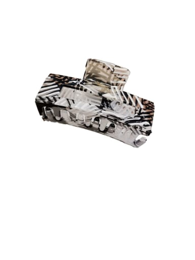 black white-7.5cm Alloy With Cellulose Acetate  Fashion Geometric Barrettes & Clips