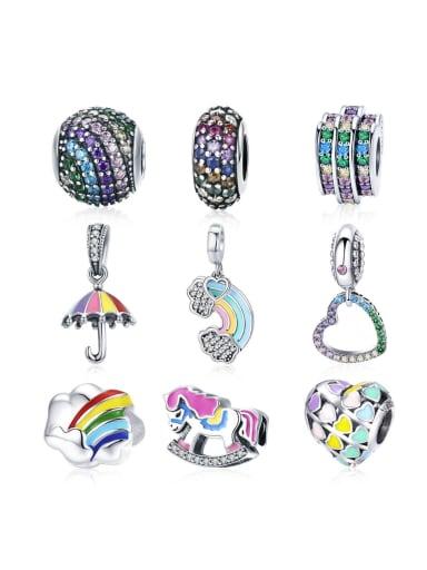 925 silver rainbow charm