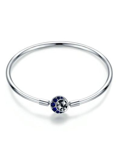 925 Silver Star Moon Chain Bracelet