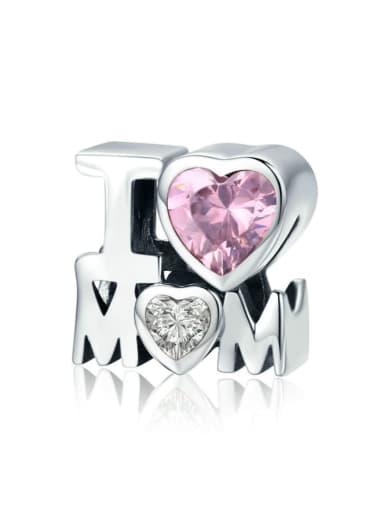 925 Silver I LOVE MOM charms