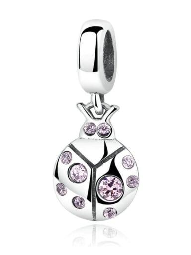 925 silver cute ladybug charms