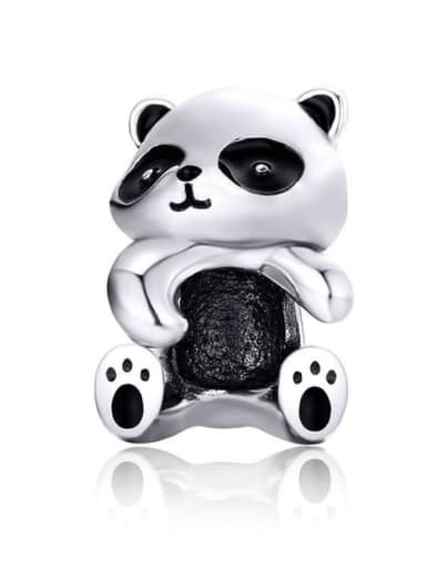 925 silver cute panda charm