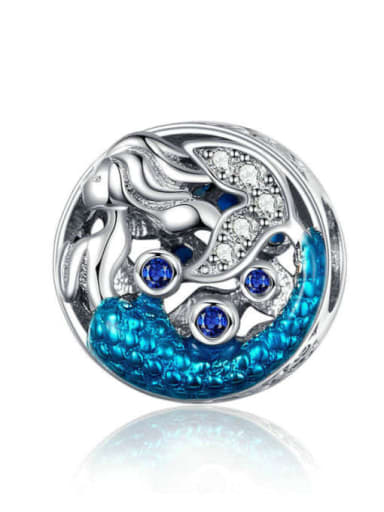 Waiting for Mermaid 925 silver marine charm