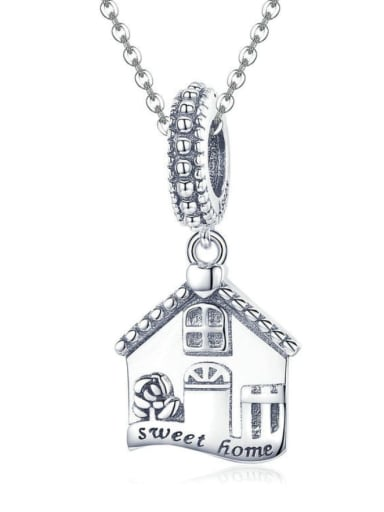 Pendant Chain 925 silver cute house charm