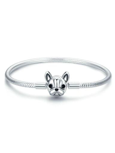 925 Silver Cute Dog Chain Bracelet