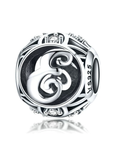 E 925 silver letter charms