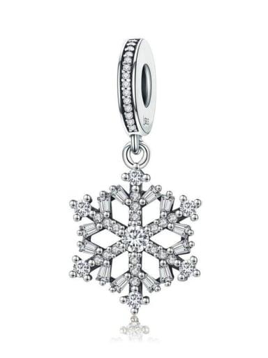 925 silver snowflake charms