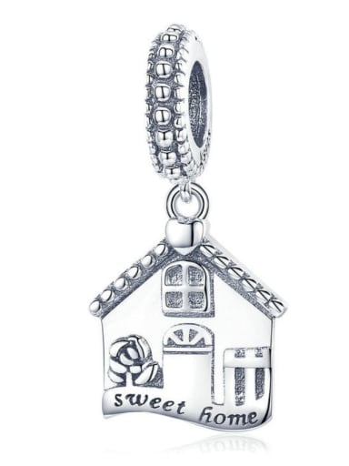 Pendant 925 silver cute house charms