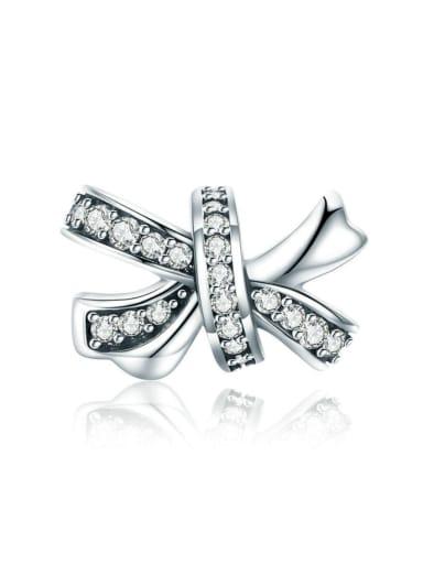 925 silver cute bow charms