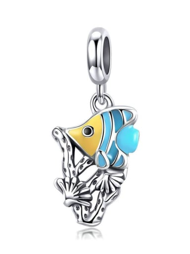 Underwater world 925 silver Marine life charm