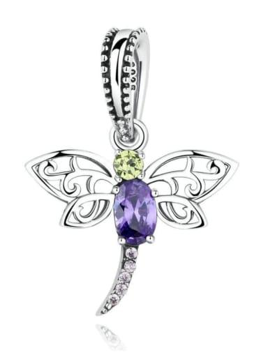 925 silver cute dragonfly charm