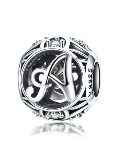 A 925 silver letter charms