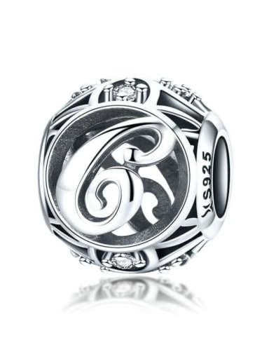 C 925 silver letter charms