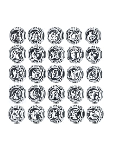925 silver letter charms