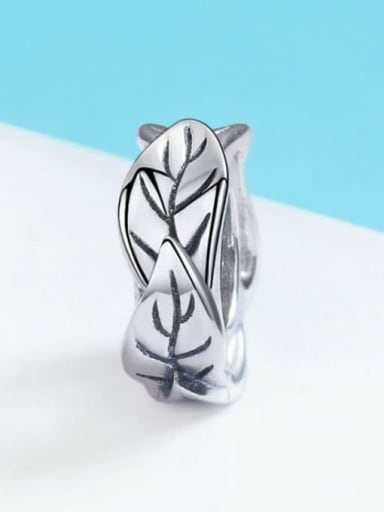 SCC597 925 Sterling Silver With Antique Silver Plated Charm