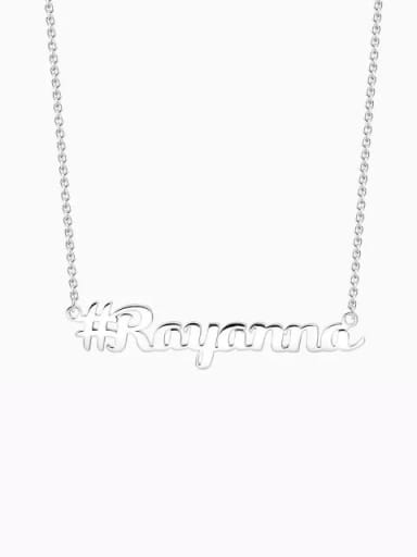 Silver Customized Silver Hashtag Name Necklace