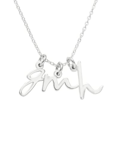Mini Three Initial Name Necklace silver