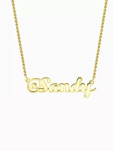 "18K Gold Plated Customize Silver ""@"" Sign Name Necklace"