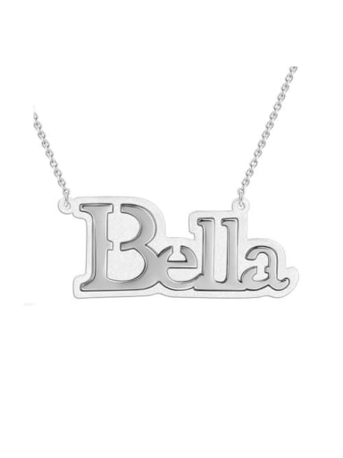 Bella style Silver Name Necklace