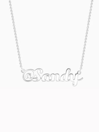 "Customize Silver ""@"" Sign Name Necklace"