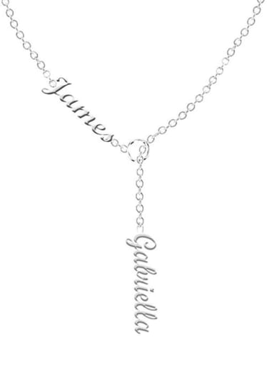 Customize Lariat Name Necklace For Couples