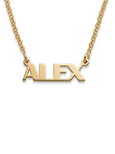 18K Gold Plated Alex style Silver Personalized Name Necklace