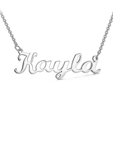 custom Kayla style silver Personalized Name Necklace