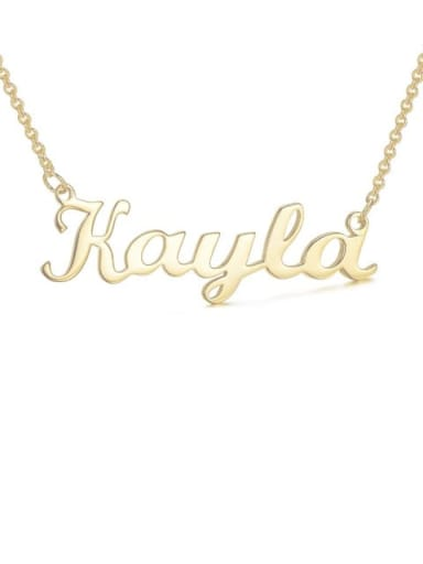 18K Gold Plated custom Kayla style silver Personalized Name Necklace