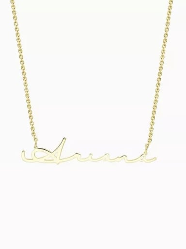 18K Gold Plated Customized Signature Style Name Necklace