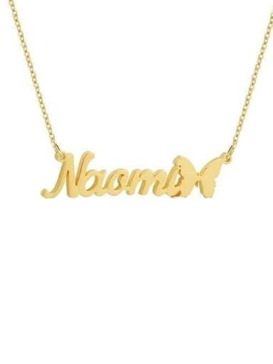 18K Gold Plated Butterfly Style Custom Name Necklace