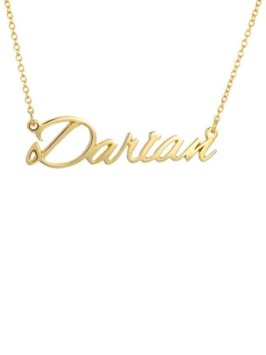 18K Gold Plated Custom Darian style  Name Necklace Silver