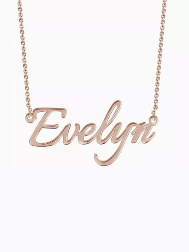 18K Rose Gold Plated Customized  Silver Personalized Name Necklace