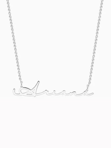 Silver Customized Signature Style Name Necklace