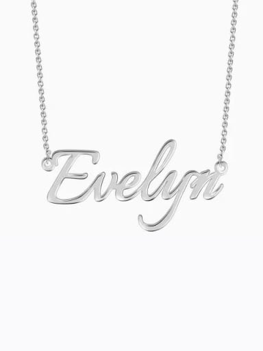 Silver Customized  Silver Personalized Name Necklace