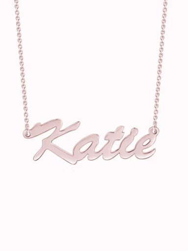 "18K Rose Gold Plated Customize Classic Personalized ""Katie"" Name Necklace sterling siver"