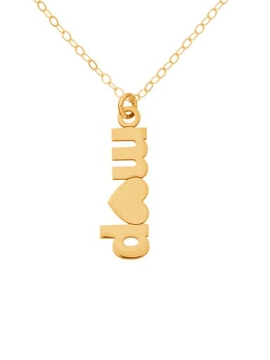 18K Gold Plated Personalized Double Initial Plate With A Heart