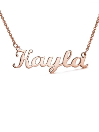 18K Rose Gold Plated custom Kayla style silver Personalized Name Necklace