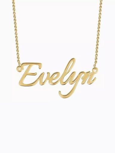 18K Gold Plated Customized  Silver Personalized Name Necklace