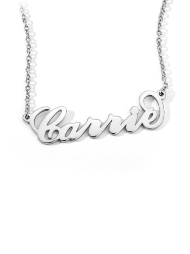 "Customize 925 Sterling Silver ""Carrie"" Style Personalized Name Necklace"