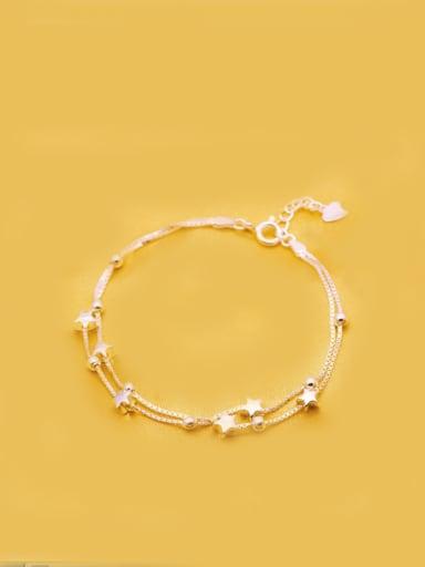 S925 Silver  platinum Plated Fashion Star Bracelet