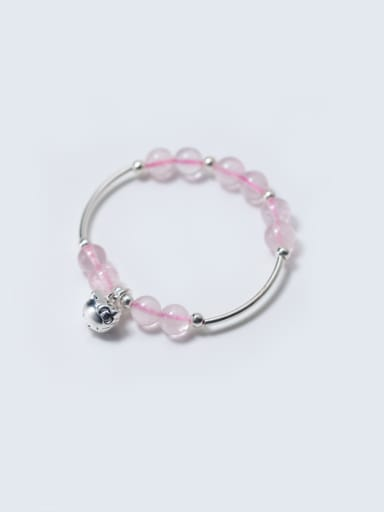 S925 Silver Natural Powder Crystal Bracelet