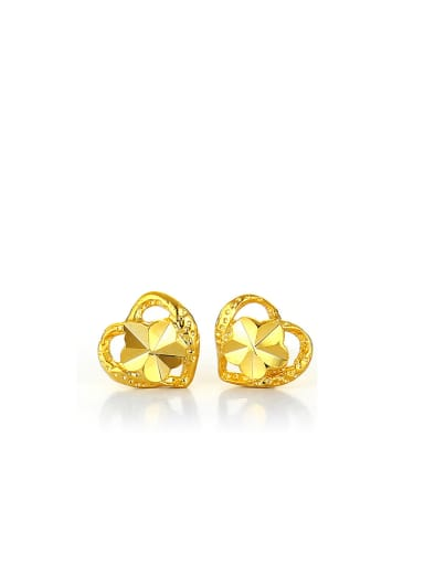 Copper Alloy 24K Gold Plated Simple Wedding stud Earring