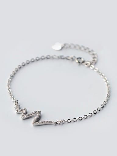 S925 Silver Wavy Full Zircon Shining Bracelet