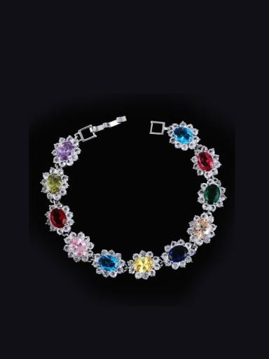 2018 Color Zircon Copper Bracelet