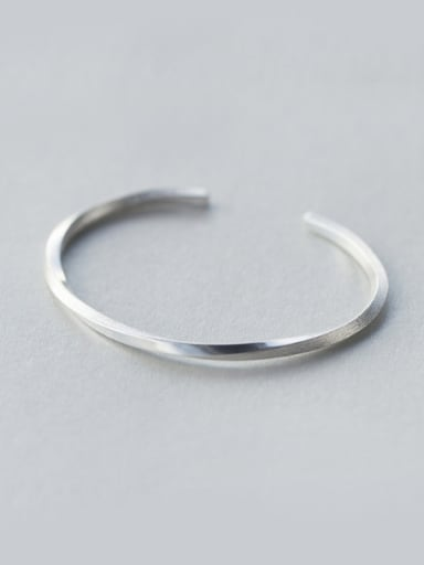 S925 silver drawing cross section twist bangle