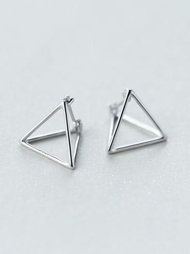 Delicate Triangle Shaped S925 Silver Stud Earrings