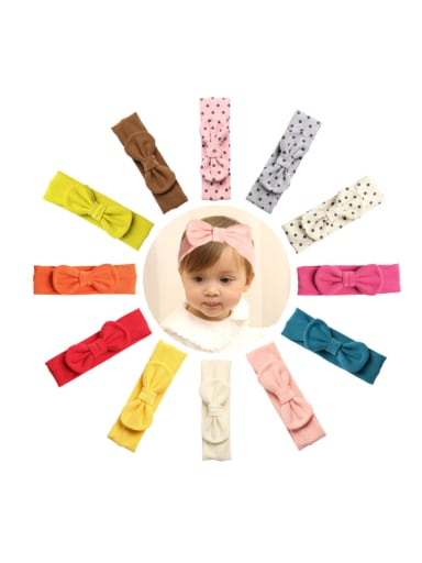 Children's headwear: baby bow headband Variety multi-model wave point headband