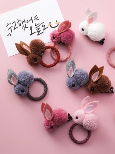 Children's Plush ornaments With Cartoon Plush three-dimensional rabbit Hair Ropes