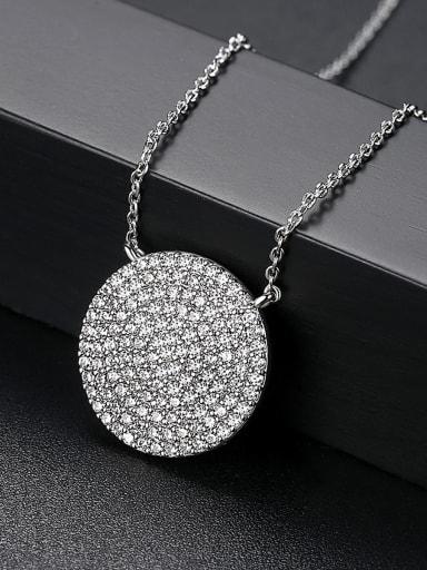 Copper inlaid AAA Zircon Necklace
